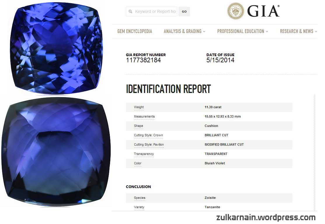 first product auctions tanzanite loose state gia certified