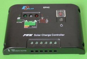 PWM Solar charge Controller 10A buatan Cina.