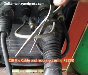 Gunting dan pasangkan dengan konektor RS232