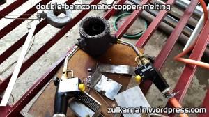 2 Bernzomatic TS8000 untuk melebur tembaga