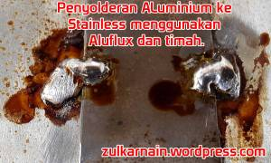 Solder ALuminium dengan Aluflux