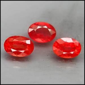 Batu permata Safir Merah 0514-8-20X 2.87 karat
