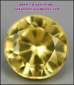 Batu permata Safir 0914-1-10X - 0.08 carat