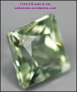 Batu Permata Safir 1214-3-8cx 0.14 carat