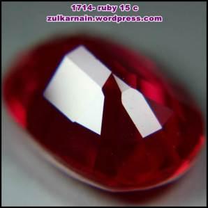 Batu permata Red Ruby 1714-8-8cx 15 carat