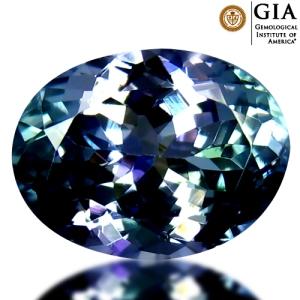 Batu Permata Tanzanite 4214-100-8cx 3.85 carat GIA Sertifikat