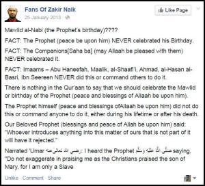Fact - Maulid Nabi - Zakir Naik