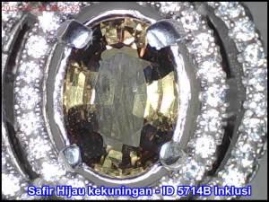 Safir Hijau Kekuningan Untreated ID 5714B
