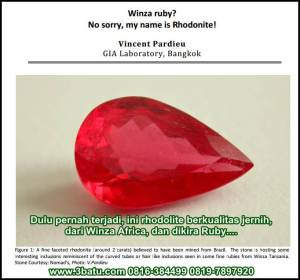 Winza ruby? No sorry, my name is Rhodonite!