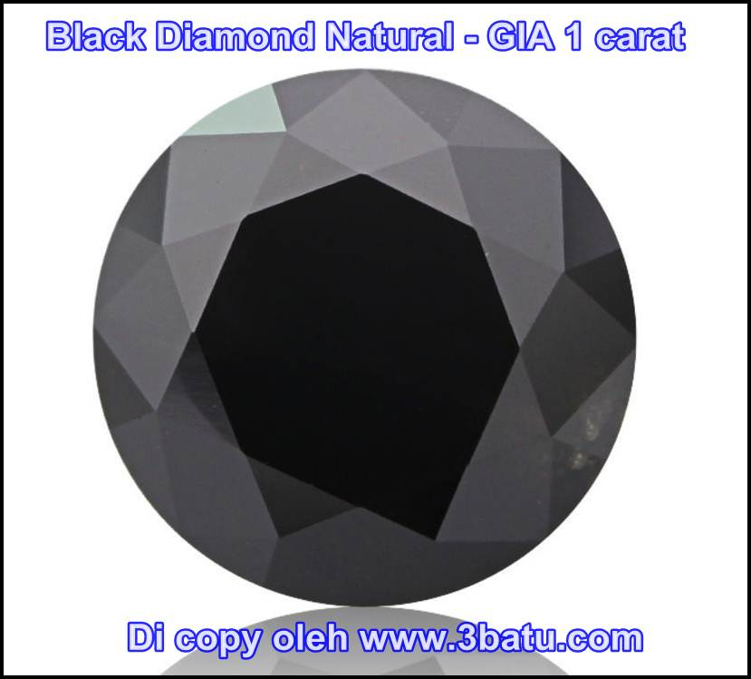 1 carat black diamond gia
