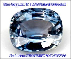 Blue Sapphire ID 11215 Natural Untreated