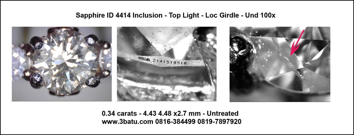 Berlian Memo GIA ID: 4414 - Foto Lase - dan Sidik Jari