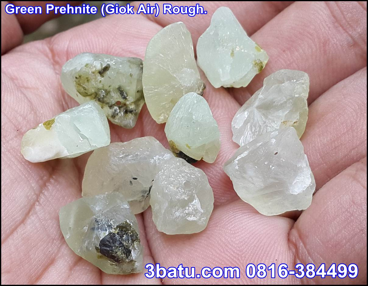 Green Prehnite Giok Air rough