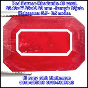 Red Borneo kristal jernih merah mahal