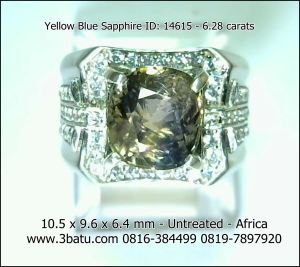 Safir Yellow Blue ID: 14615 - 6.28c Untreated