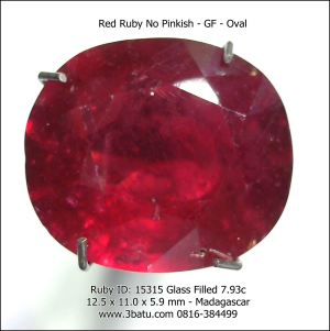 Red Ruby - No Pinkish - GF - 7.9 carats