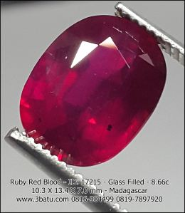 Ruby ID: 17215 Jernih - Glass filled