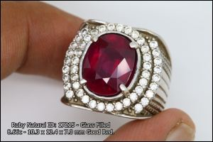 Ruby Blood Red SN: 17215 Glass Filled