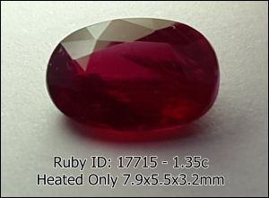 Ruby Red Blood Heated Only