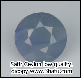 Safir Ceylon Kualitas Buruk