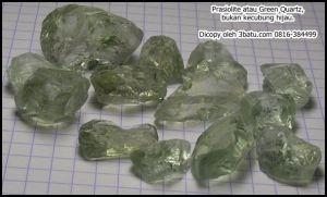 Prasiolite - Quartz Hijau, bukan kecubung hijau