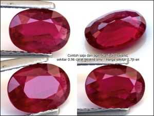 Sample Red Blood Ruby 0.96 carats - Heated Only.