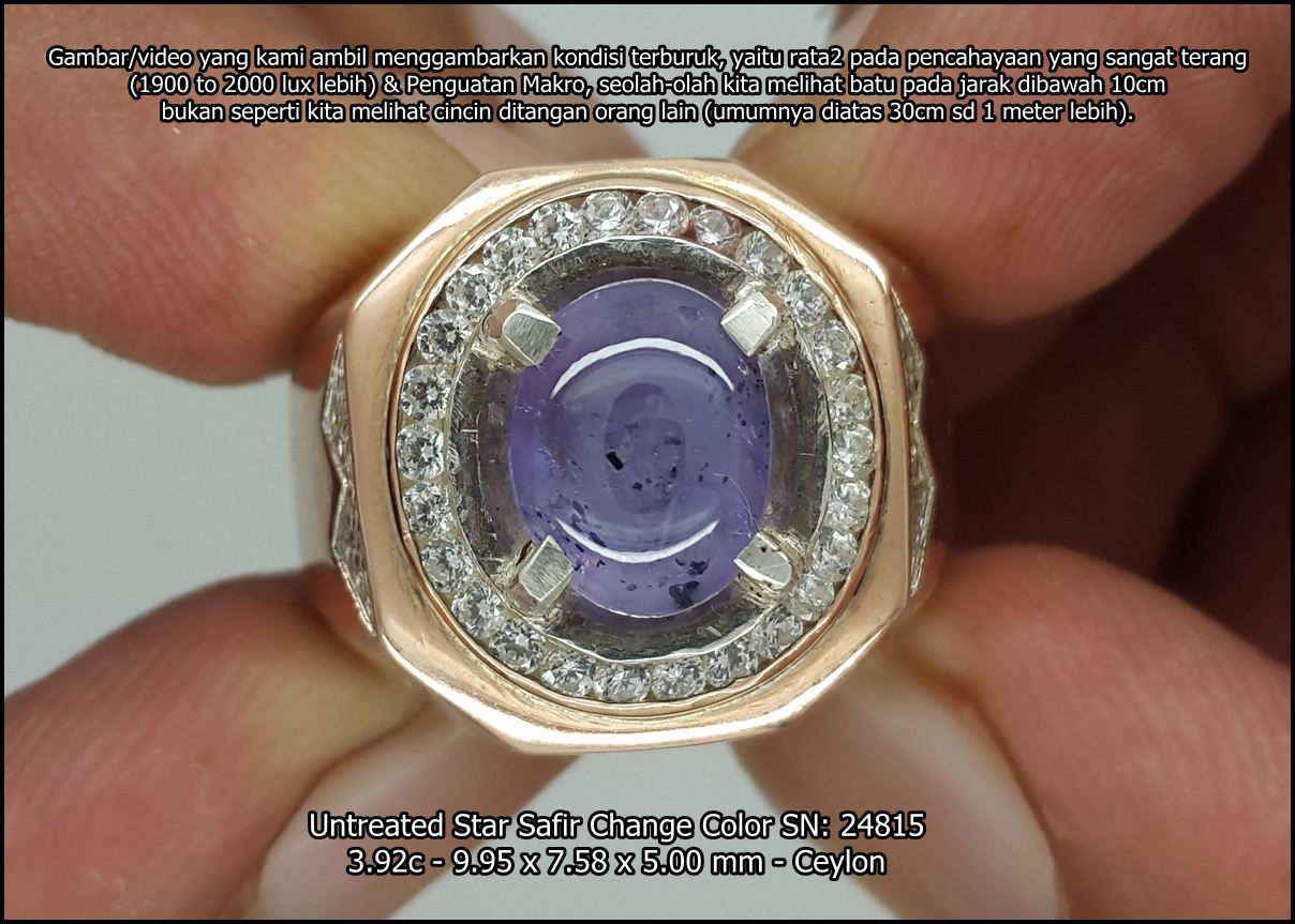 Untreated Star Safir Change Color SN: 24815