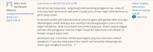 AGA Aceh Gemstone komen ngaco parah