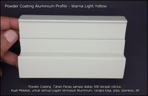 Aluminium Profile - Powder Coating - Light Yellow