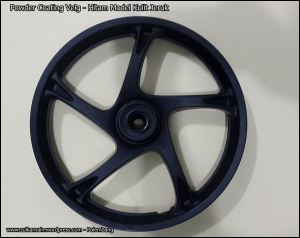 Powder Coating Velg - Hitam - Palembang