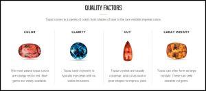 GIA Topaz quality factor