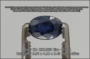 Safir ukuran kecil untuk cincin pria.