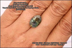 GIA Safir Mysterious Color - SN: 25915 - UNTREATED