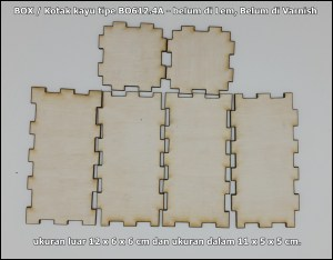 BOX / Kotak kayu tipe BO612.4A belum di Lem & di Varnish