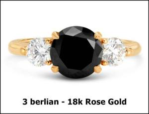 GIA 3 Berlian Putih dan black diamond