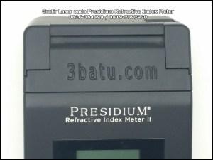 Penandaan Presidium Refractive Index Meter laser cnc