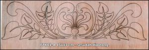 Profile Kayu Flourish FPK01-A - Polos belum di varnish (ada video)