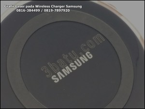 Penandaan Wireless Charger Samsung S5 dengan Laser CNC