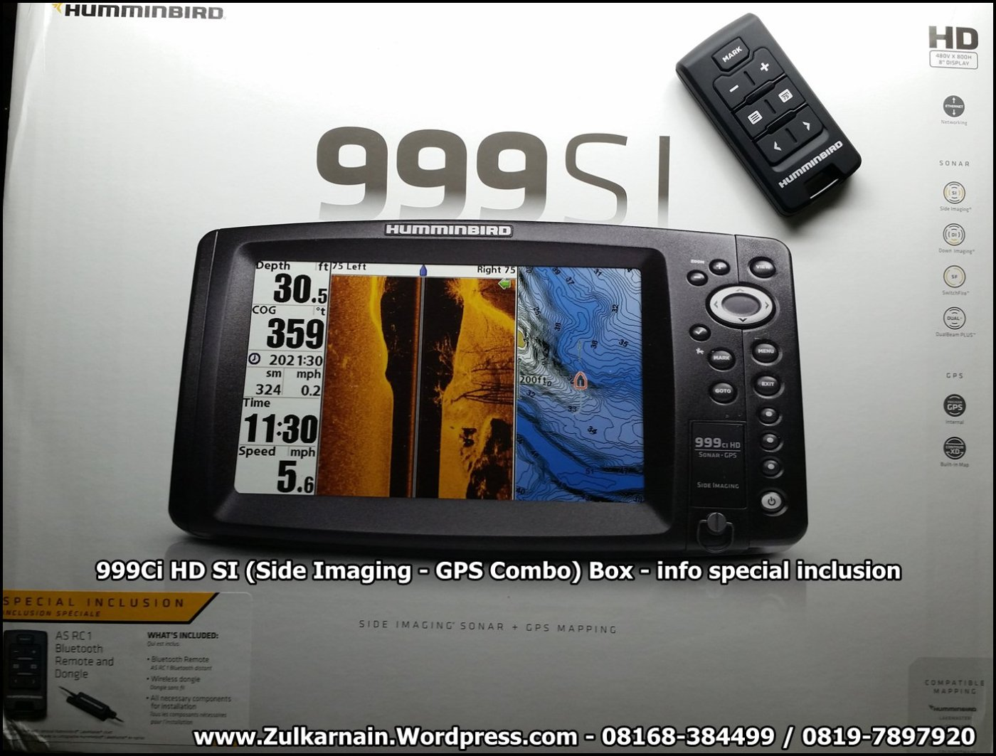 humminbird 999 Side Imaging Box