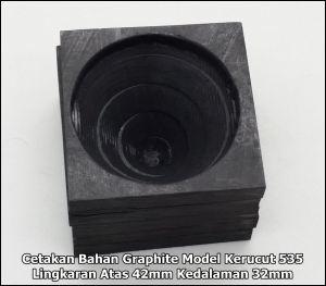 graphite molding kerucut tipe 535