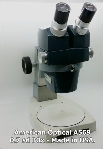 American Optical Microscope AO569