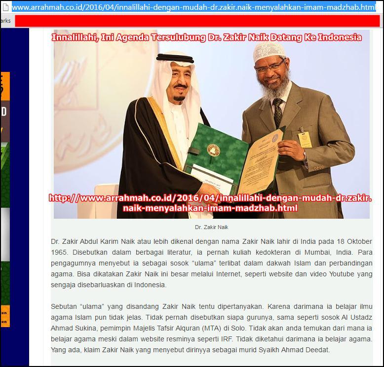Zakir Naik vs Arrahmah.co.id