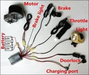 Motor Dc 350w 36v Hi Torque Untuk Sepeda, Pompa Air Dll