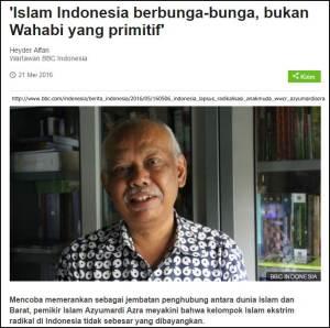 islam berbunga wahabi primitif