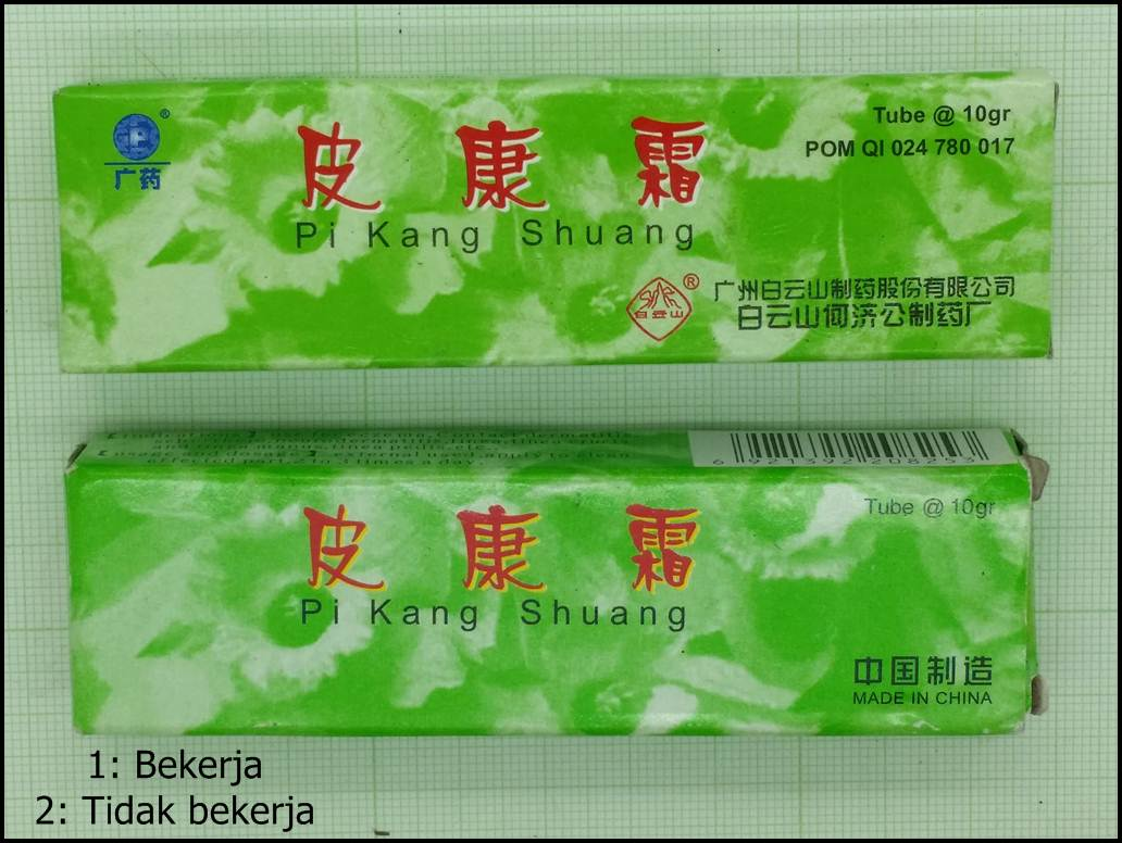 Salep Kulit Pi Kang Shuang Yang Asli Dan Palsu Zulkarnain P Sf Pks Cream Suang Biru Ciri