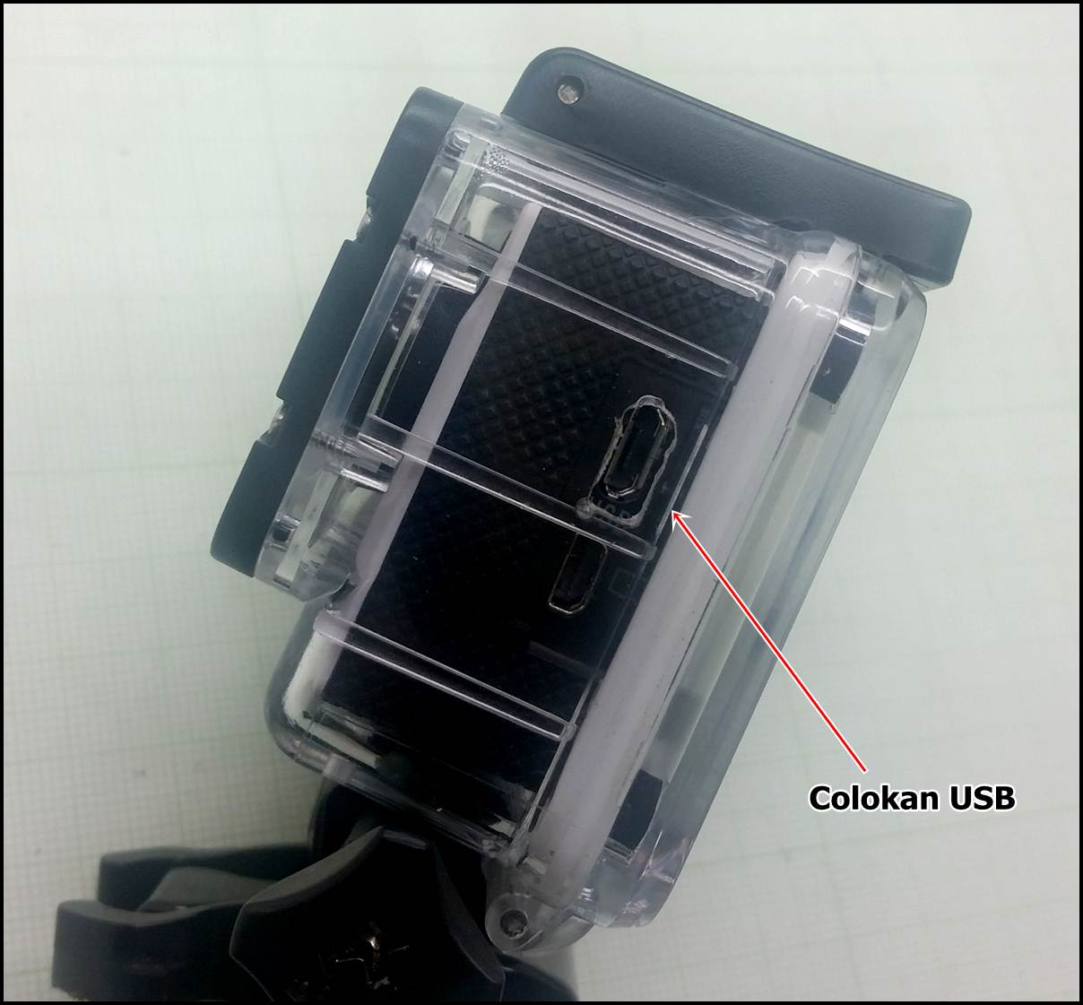 colokan usb action cam