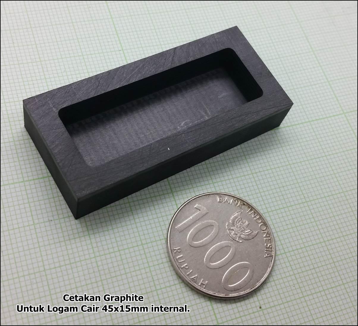 graphite cetakan logam 45x15