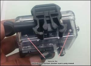 saluran air action cam