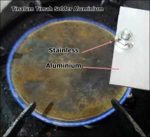 Solder Aluminium ke Stainless