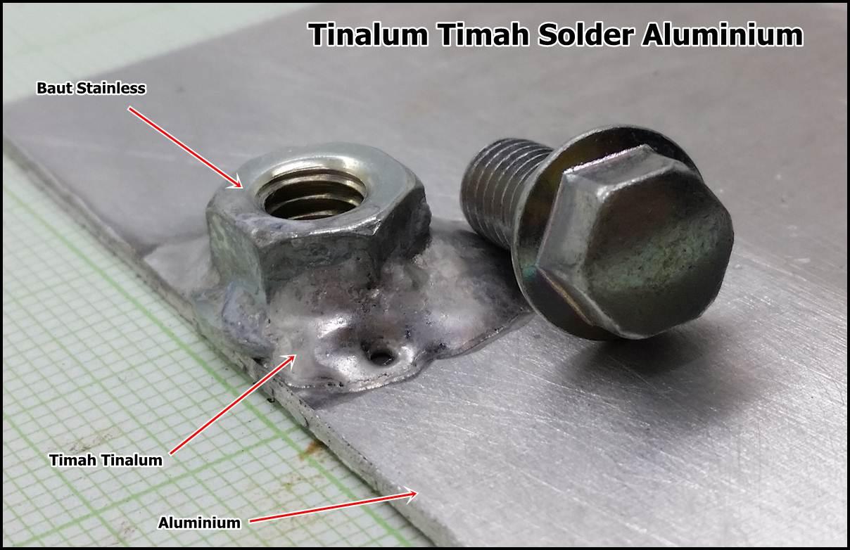 Solder Aluminum ke Stainless